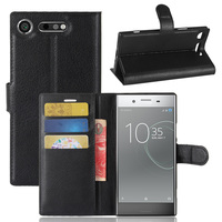 Flip Wallet PU Leather Stand Case For Sony Xperia XZ1 G8341 F8342 Cover Vintage Coque Phone Bag Cases With Card Holders