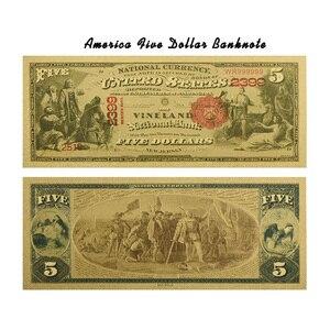 WR 1875 год, американская монета, 24k 999,9, позолоченный подарок, денежная валюта, купюры, художественные поделки с пвх рамкой для коллекции