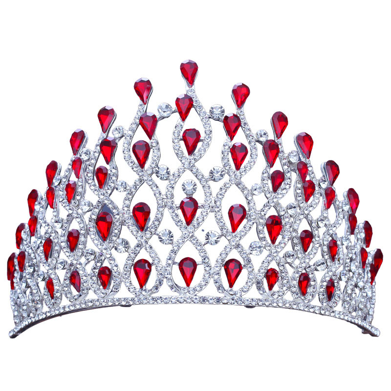 Queen New Big Crown  Crystal Tiaras Bridal Hair Jewelry Ladies Wedding Hair Accessories Tiaras Crowns Headband LB