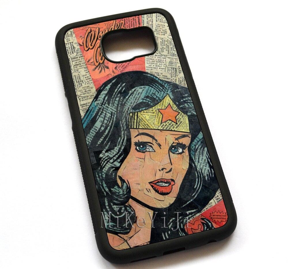 Wonder Woman чехол, чехол для Samsung Galaxy S5 S6 S6Edge S7 S7edge #11963
