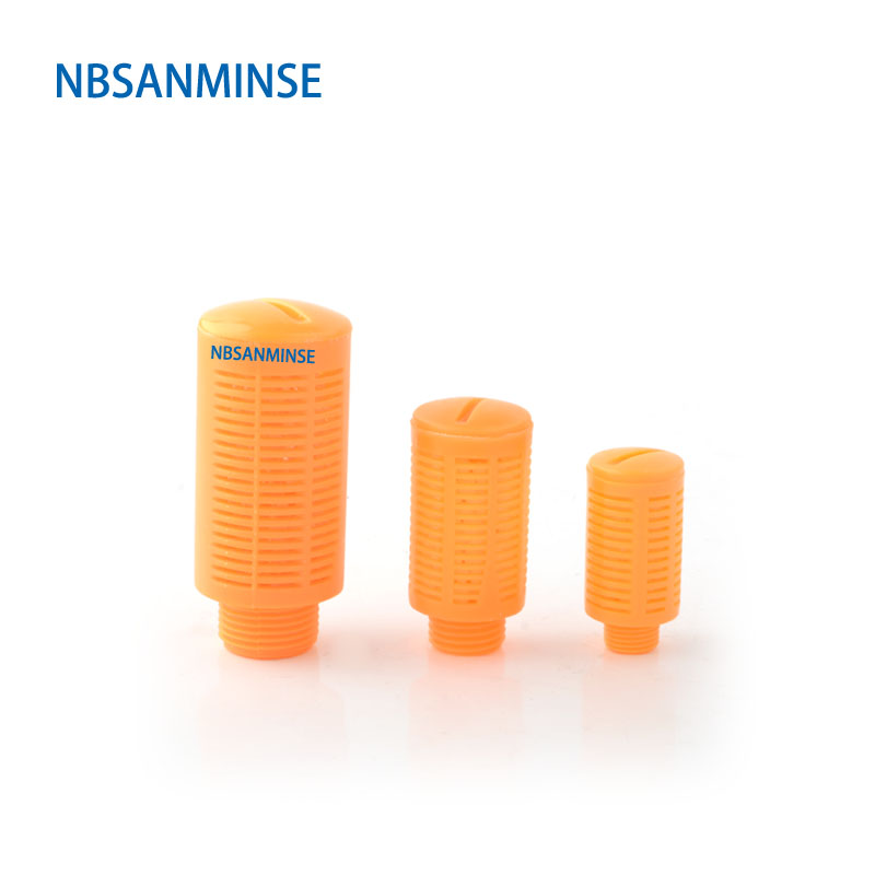 NBSANMINSE 10Pcs/lot Plastic Silencer 1/8 1/4 3/8 1/2 3/4 1  SU Type Air Muffler Pneumatic Parts