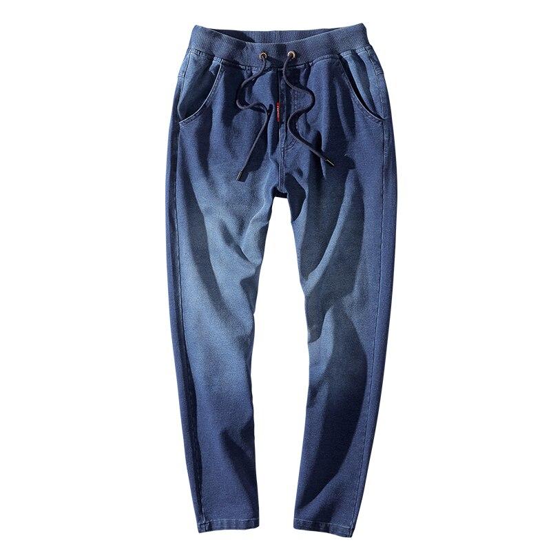 Pantalons de survêtement hommes classique nostalgique hommes pantalons 7XL 8XL lâche grande taille Sport pantalon lavé tricot élasticité course pantalons de Sport