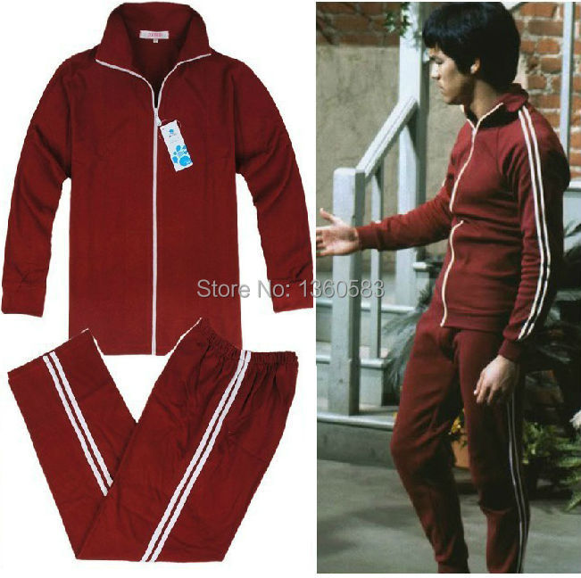 Bruce Lee Costume Vintage Kung Fu Uniform The Film Of Longstreet Tracksuit Jeet Kune Do Uniform vintage Chinese wingchun clothes 2016 chinese tang kung fu wing chun uniform tai chi clothing costume cotton breathable fitted clothes a type of bruce lee suit