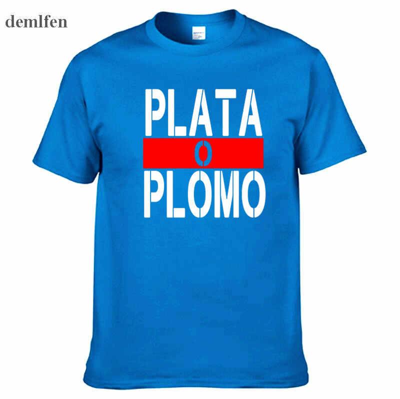 Новые летние брендовая одежда плата о Пломо футболки Для мужчин нарков Пабло Эскобара футболка хлопок хип-хоп О-образным вырезом Футболки-топы