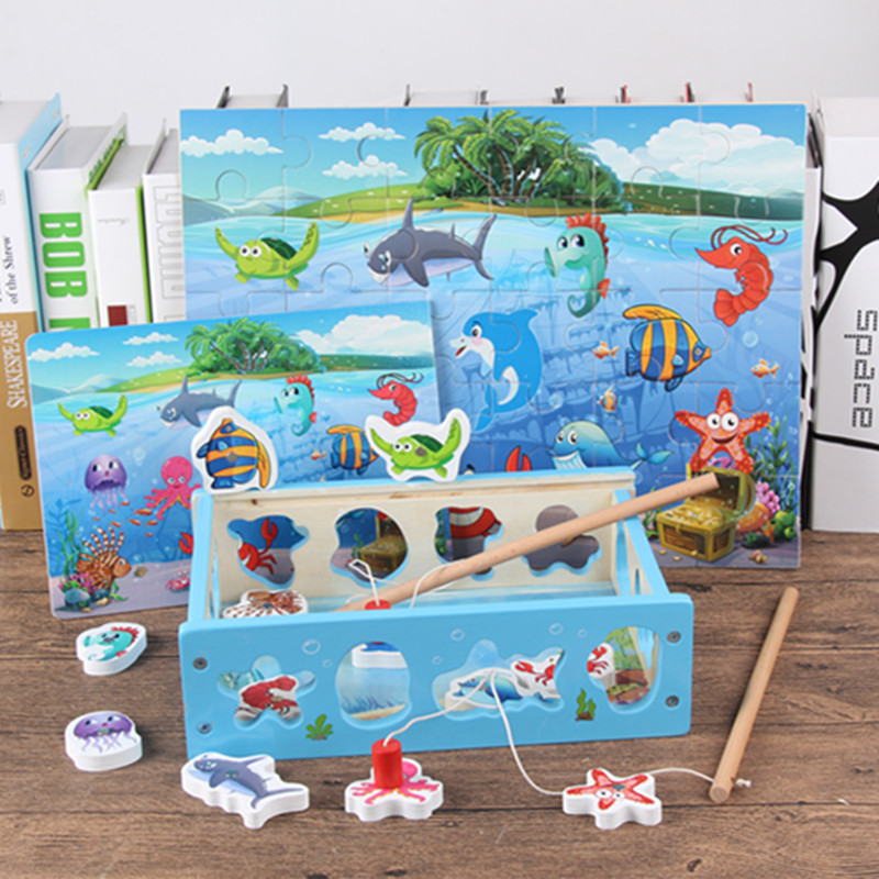 Kids Magnetic Games Fish Toys For Children Multifunctional Match Pair Toys Magnetic Fish ...