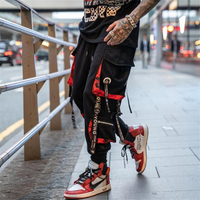 2019 Mens Hip Hop Pant Side Pockets Vintage Camouflage Cargo Pant Streetwear Casual Harem Trousers Jogs loose feet Trousers Man
