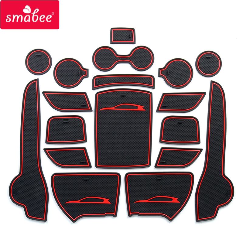 Smabee Anti-Slip Gate Slot Mat For KIA SPORTAGE QL 2016 2017 2018 2019 QL 4th Gen Accessories Rubber  Cup Holders Non-slip Mats