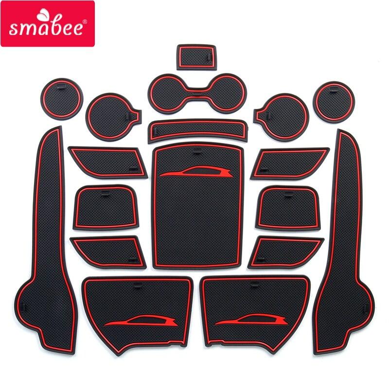 smabee Anti-Slip Gate Slot Mat For KIA SPORTAGE QL 2016 2017 2018 2019 QL 4th Gen Accessories Rubber  Cup Holders Non-slip mats