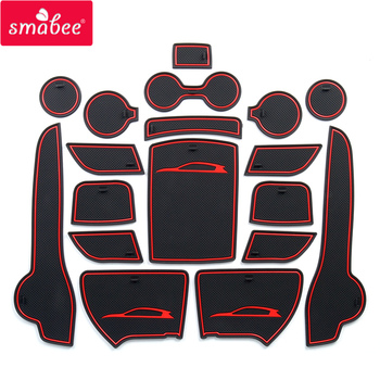 smabee Anti-Slip Gate Slot Mat For KIA SPORTAGE QL 2016 2017 2018 2019 QL 4th Gen Accessories Rubber  Cup Holders Non-slip mats anti slip mat for phone gate slot mats cup rubber pads rug for toyota rav4 2019 2020 xa50 rav 4 50 car stickers accessories