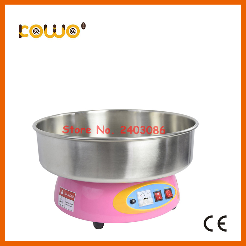 stainless steel electric cotton candy floss machine ce cb commercial 1 unit/30 seconds 110V 220V 1080w sweet cotton candy maker
