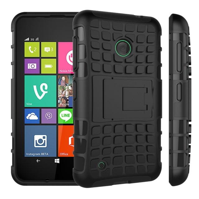 2016 New Rugged Spider Bracket Silicone Case For Microsoft Nokia Lumia 530 2in1 Cute Tpu Hard