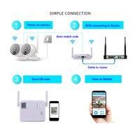 1080 P Wi Fi IP комплект камеры безопасности 2ch sd карта видеомагнитофон домашнего безопасную систему PIR тепловой индукции Wi Fi ip камеры
