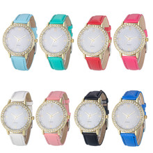 Women Watch Fashion Women Diamond Analog Leather Quartz Wrist Watch Watches relogio feminino  dropshipping free shipping  #30