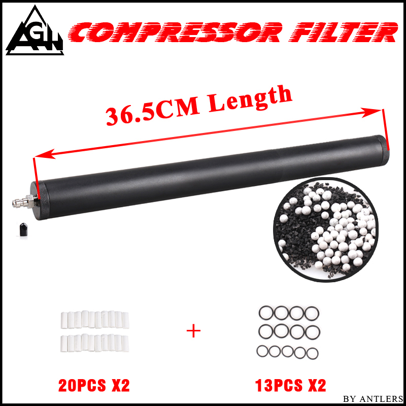 Pcp Air Filter Oil-water Separator 36CM For Pcp Compressor 4500psi 30Mpa 300bar Air Electronic Pcp Pump Diving Filter