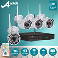 ANRAN 720P HD Outdoor IR Night-Vision Home Video Surveillance Security IP Camera WIFI CCTV Kit 4CH Wireless NVR System+1TB HDD