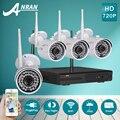 Anran 720 p hd ir outdoor night-vision home video cctv 4ch kit de vigilância câmera de segurança ip wi-fi sem fio sistema nvr + 1 tb hdd