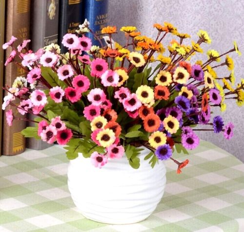 FD2272 Cute Daisy Chrysanthemum Bouquet Flower Floral Home Garden Craft Decor