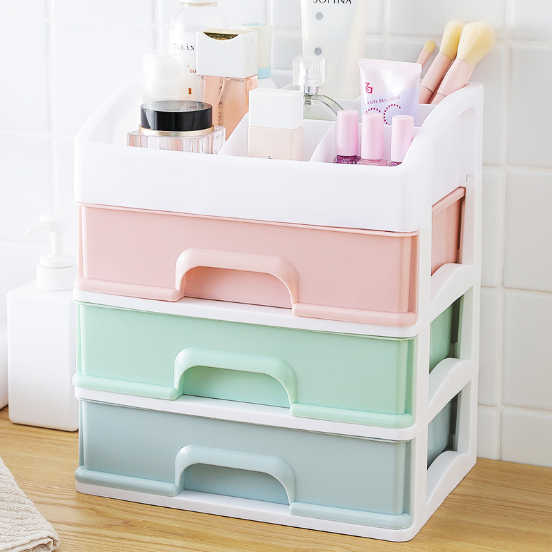 Plastic Cosmetic Storage Box to Organize Makeup with Drawers for Dressing Table of Women 1