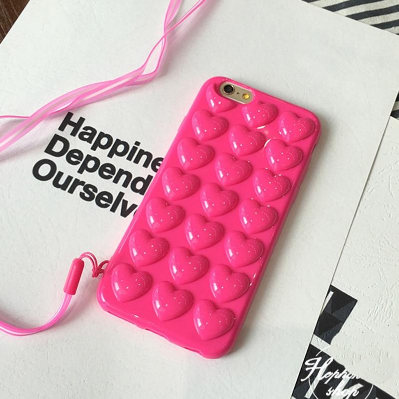 JAMULAR Permen Warna Pink Jantung Jelly Lembut Telepon Kasus Silikon - Aksesori dan suku cadang ponsel - Foto 3