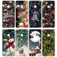 Рождество покрытие стола для huawei P20 Pro P30 P8 P9 P10 Коврики 10 20 30 Lite P Smart для huawei Honor 7A 8X9 10 Lite TPU чехол