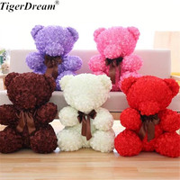 60CM Valentine's Day Gift 5 Colors Big Rose Bear Plush Toys Lovely PP Cotton Teddy Bears Sweet Smell Doll GirlFriend Present