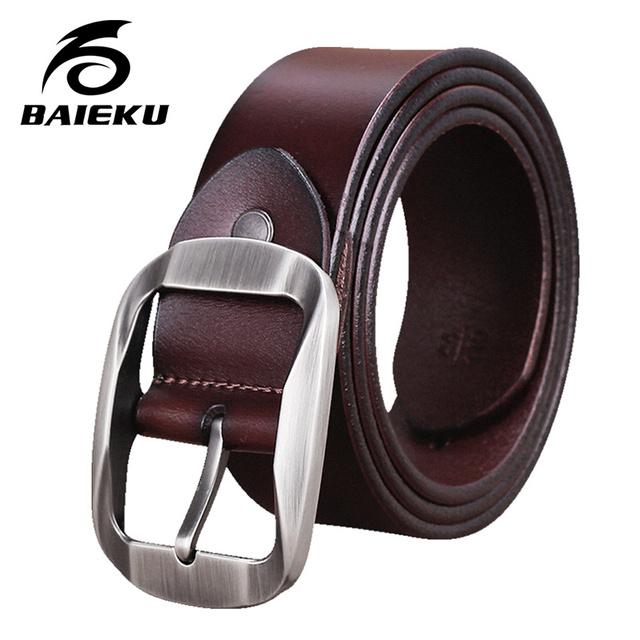 Baieku joker Ocio de moda cinturón de cuero correa de Los Hombres