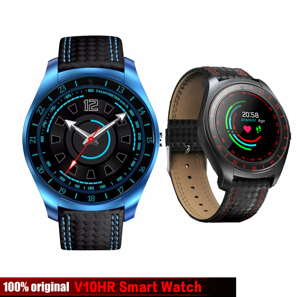 New <font><b>V10</b></font> Smart Watch Men with Camera Bluetooth <font><b>Smartwatch</b></font> Pedometer Heart Rate Monitor Sim Card Wristwatch for Android Phone image