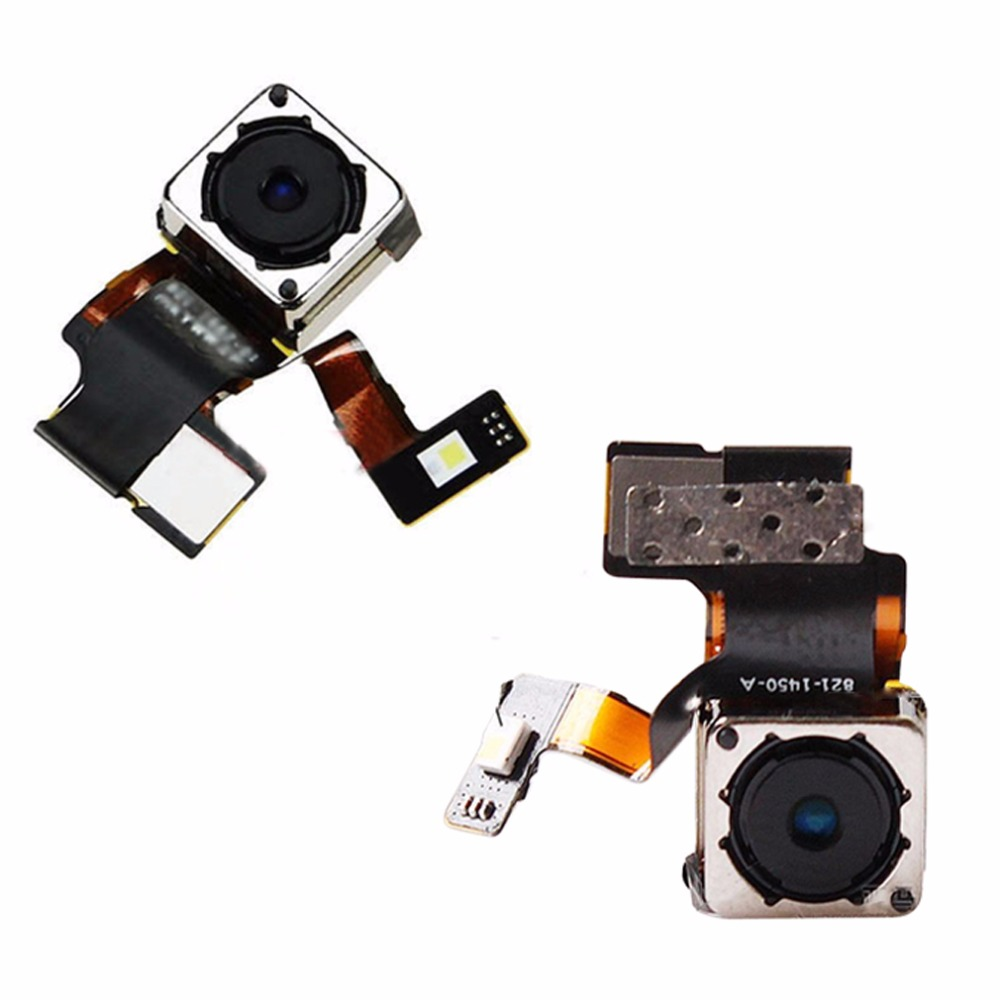 Portable Mobile Phones Back Camera Big Rear Camera Module Flex Cable Replacement With Flash For Apple IPhone 5 5G Auto Focus