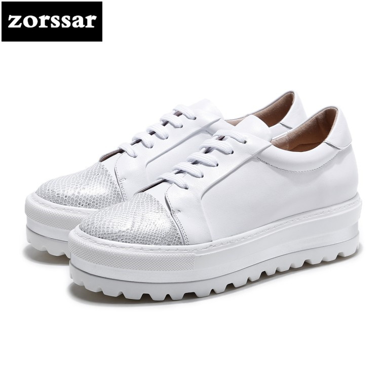 {Zorssar} Brand 2018 Spring New fashion Women sneakers Casual Flats shoes Comfortable flat platform Shoes White student shoes minika new arrival 2017 casual shoes women multicolor optional comfortable women flat shoes fashion patchwork platform shoes