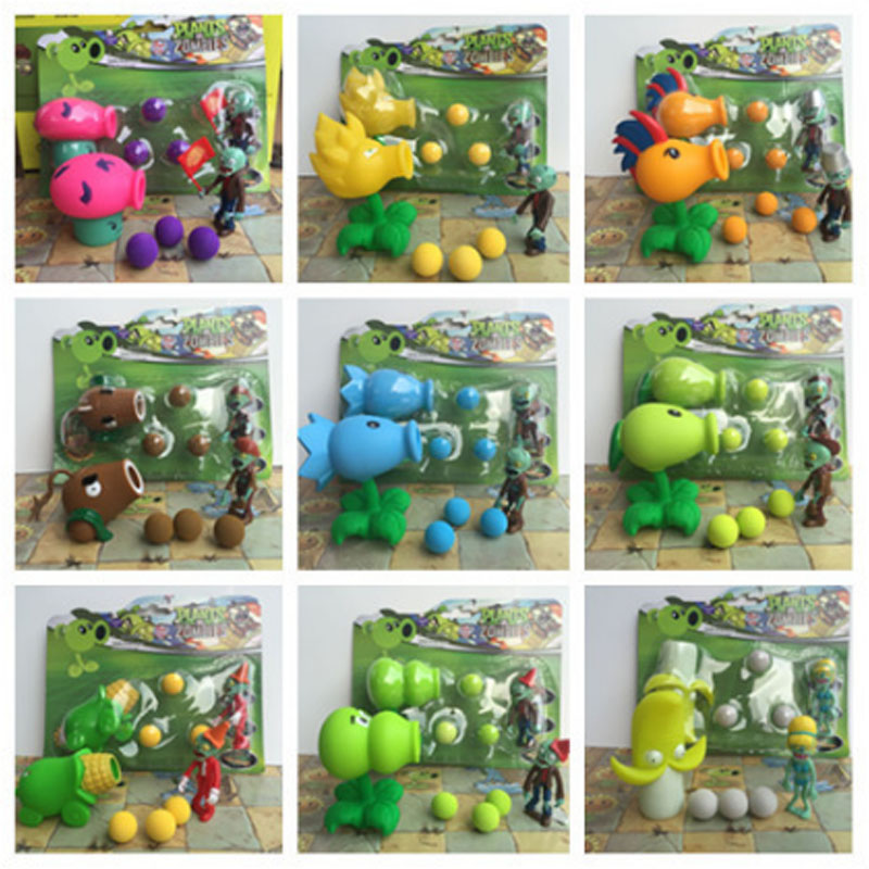 2017 Hot games PVZ Plants vs Zombies Peashooter PVC Action Figure toys Model best Toy Gifts Toys For Children Brinquedos game figure 10cm darius the hand of noxus pvc action figure kids model toys collectible games cartoon juguetes brinquedos hot
