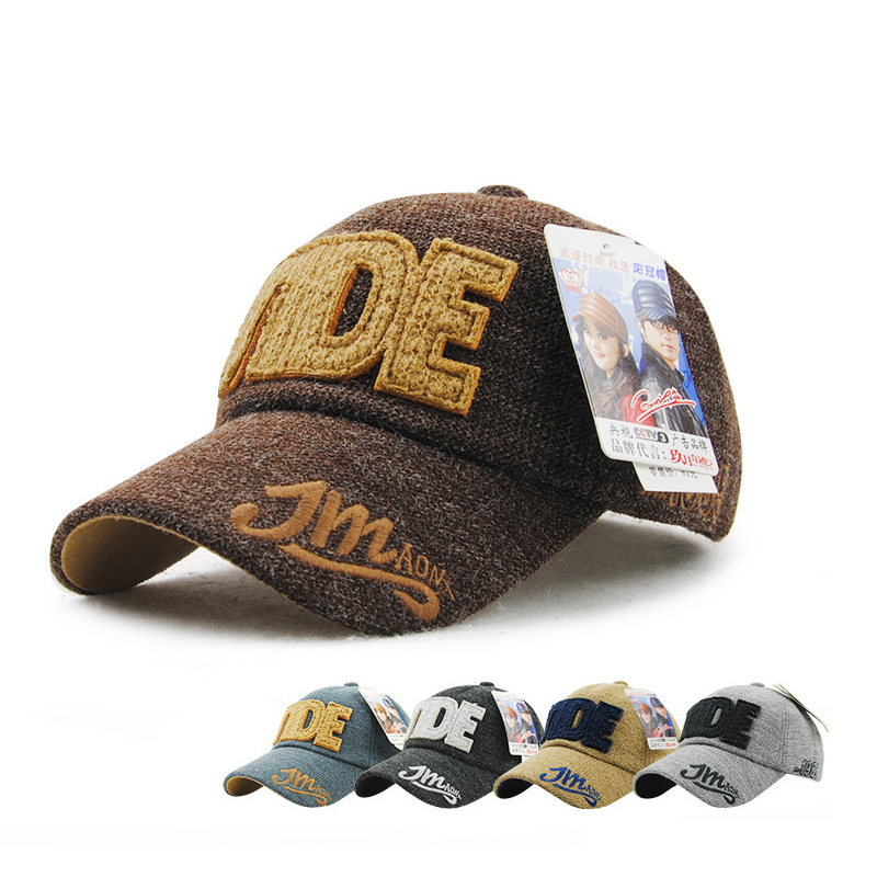 64d195155d5 Classic winter wool hat and outdoor baseball cap letter embroidery factory  direct wholesale peaked cap for men and women HMZ8190-in Baseball Caps from  ...