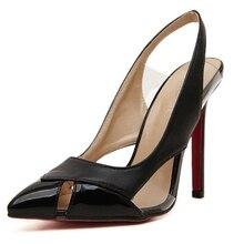 ผู้หญิงกลับสายตัดออกรองเท้าส้นสูงในช่วงฤดูร้อนผู้หญิงรองเท้าแหลมนิ้วเท้าส้นสูงบางปั๊มขนาด35-40 JJM816-2