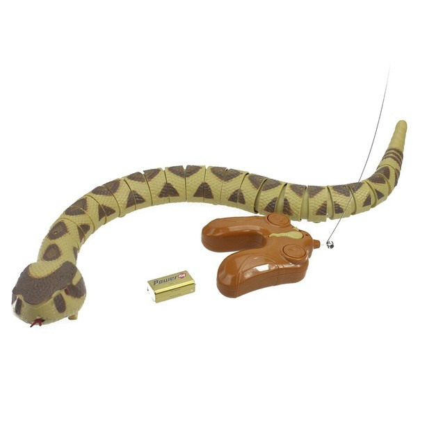 Infrared Remote Control snake Electric Wireless Simulation RC Electric Rattle python cobra snake creativity gifts toys P3