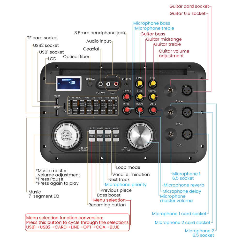 AIYIMA DSP Bluetooth MP3 декодер доска караоке предусилитель EQ без потерь волоконный коаксиальный эквалайзер для ламповый усилитель аудио дома Театр