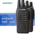 2 pcs baofeng bf-888s walkie talkie baofeng 888 s 16ch 5 w uhf 400-470 mhz rádio cb portátil rádio portátil para a caça de rádio