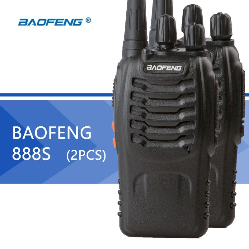 2PCS Baofeng BF 888S Walkie Talkie Baofeng 888s CB Radio 16CH 5W UHF 400 470MHz Portable