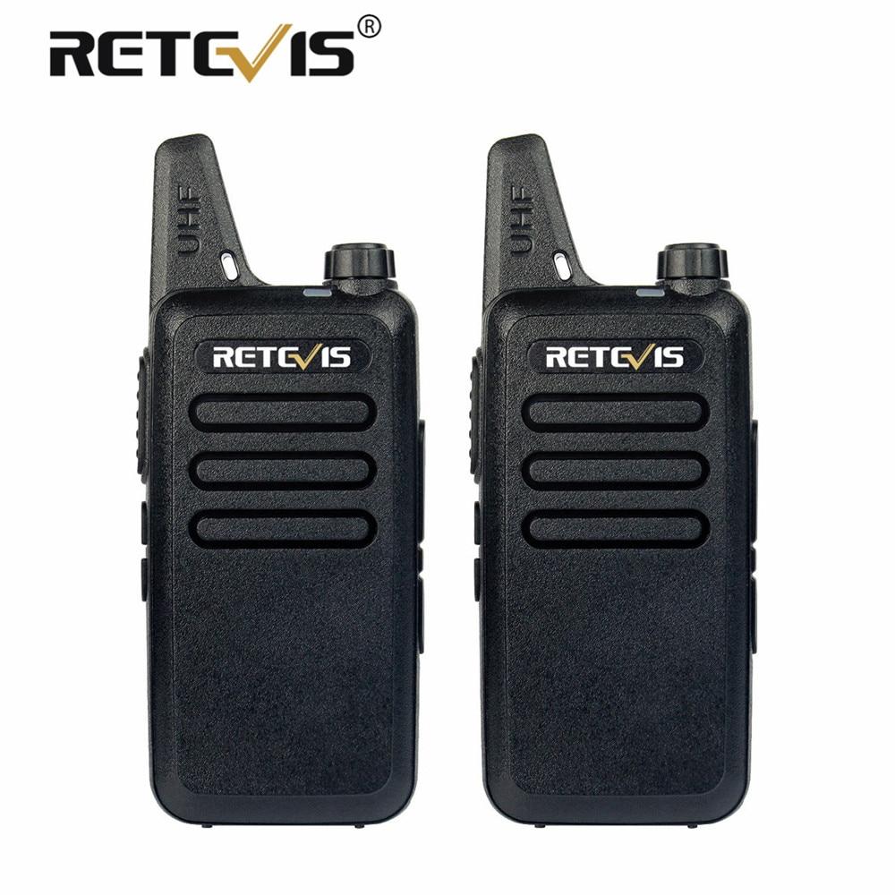 2 pcs Mini Walkie Talkie Retevis RT22 2W UHF VOX USB Charging Handy Two Way Radio Station Ham Radio Hf Transceiver Communicator