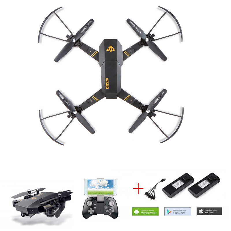 Xs809w Xs809hw Selfie Drone With Camera 720p Fpv Quadcopter Rc Drone Rc Helicopter Remote Control Toy For Kids Christmas Gifts jjr c jjrc h43wh h43 selfie elfie wifi fpv with hd camera altitude hold headless mode foldable arm rc quadcopter drone h37 mini