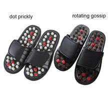 Chinese Acupressure Therapy Shoe Massage Slippers Sandal Reflex Acupuncture Foot Healthy Massager Bath Feet Care
