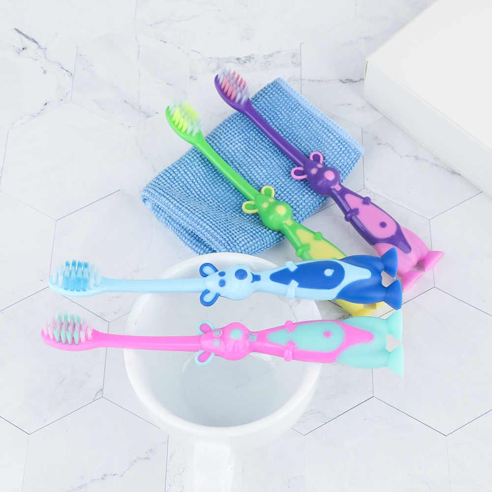 1 قطعة تدريب الاطفال لينة لينة شعيرات فرشاة الأسنان الطفل الأطفال الأسنان العناية بالفم فرشاة أسنان أداة الطفل الاطفال التسنين التدريب