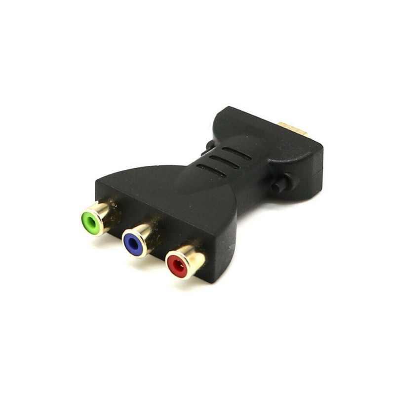 HDMI macho a 3 RCA AV Video Audio adaptador componente Convertidor para HDTV DVD proyector soporte 3D pantalla de visualización Ethernet