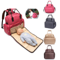 2016 new Large Baby Diaper Nappy Backpack Changing baby reclining Bag Mummy Tote Handbag Shoulder Bag baby changing bags for mom