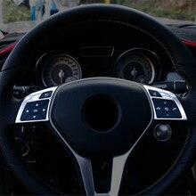 In Acciaio Inox Auto Volante Bottoni Cornice Decorazione Della Copertura Trim 2 pcs Per Mercedes Benz CLA C117 GLA X156 GLK