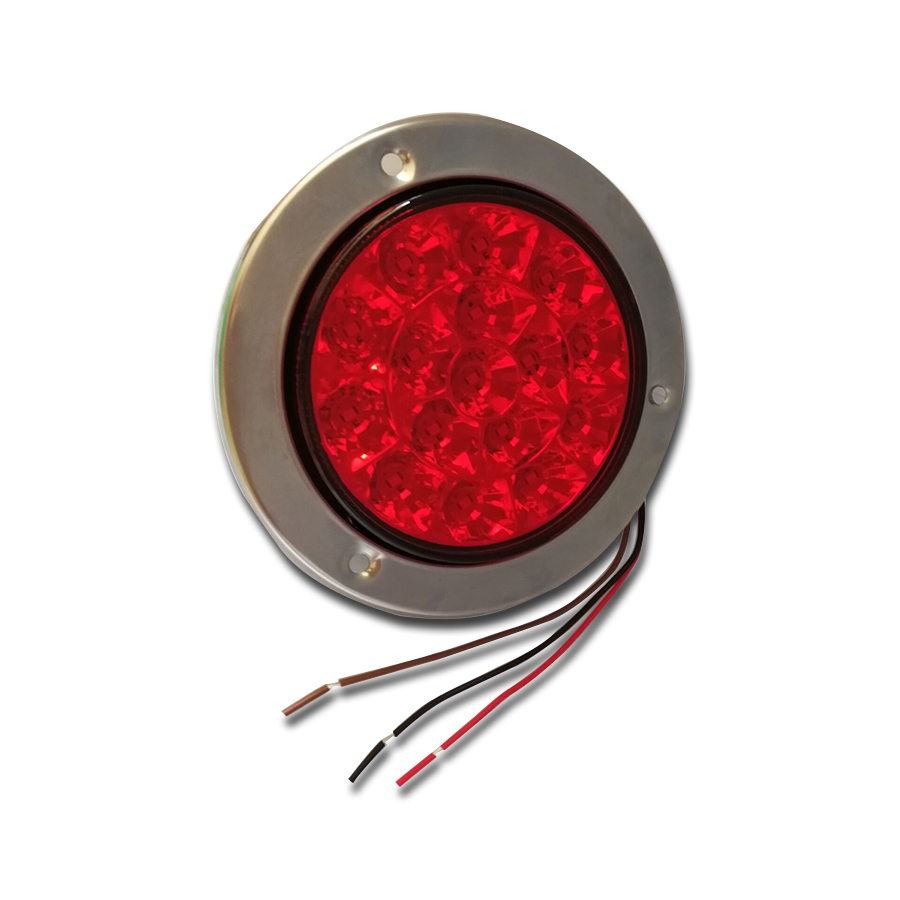 1 Pair 12-24V 16-LED Car Round Clear Lens Yellow Indicator Stop Rear Tail Lights