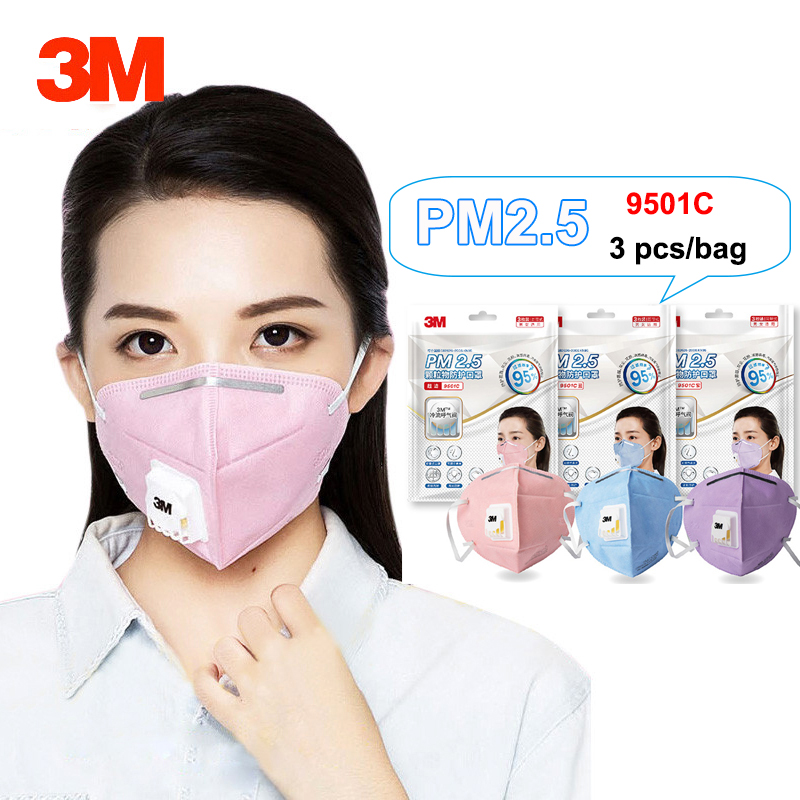 3M 9501C Dust Mask Anti PM2.5 Anti influenza Breathing valve Bicycle Riding Comfortable Face Mask KN95 Safety Masks3M 9501C Dust Mask Anti PM2.5 Anti influenza Breathing valve Bicycle Riding Comfortable Face Mask KN95 Safety Masks