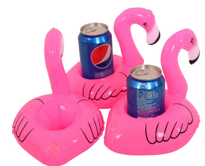 Inflatable flamingo drink floats flamingo drink coaster Pool Float Cup seat Inflatable Pool Party drink floats cup holder