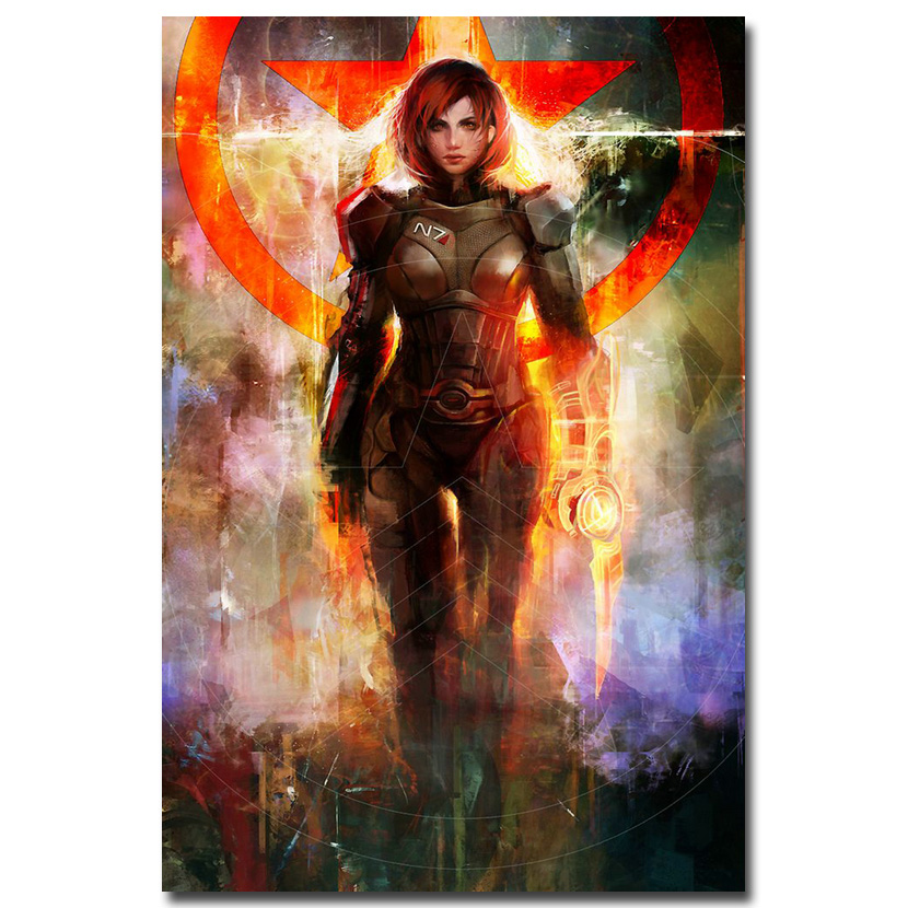 Mass Effect Art Silk Poster Print 13x20 24x36 inch Game Picture 002(China)