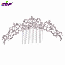Trendy Vintage Silver Hair Combs Rhinestone Crystals Hairpins Bridal Wedding Hair Accessories Jewelry Free Shipping Xby077