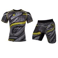 Muay Thai Mma Rashguard Compression Sport Suit Shorts+Long Sweatshirt Camiseta Boxeo Boxing Punching Boxing Muaythai Leggings