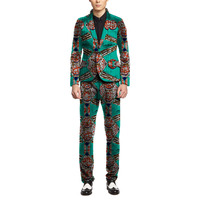 Personal Tailor African Blazers And Trousers Men Fashion Africa Print Dashiki Suits Business Edition Slim Fit